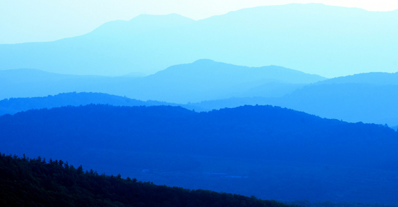 Summer mountains near Asheville, North Carolina.