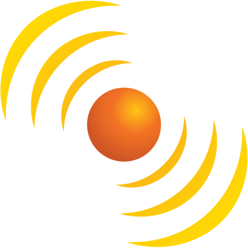 SunSpots orb and rays icon